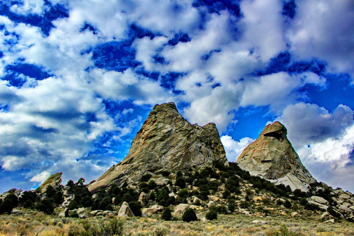 Photo of Twin Sisters rock formations
