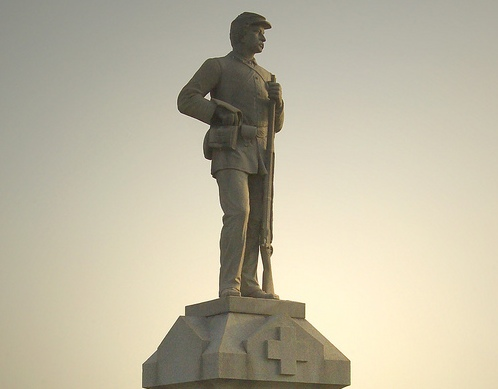 Modern photo of a monument at Antietam National Battlefield