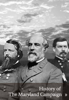 Generals Pope, Lee, and McClellan commanders of the armies of the Maryland Campaign/ Link to History of Maryland Campaign