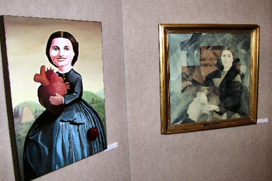 Two portraits of Clara Barton from the 2011 Art of Clara Barton show.