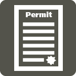 white permit on grey background