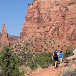 Hikers in Monument Canyon