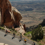 Bicyclist on Rim Rock Drive
