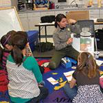 Ranger in a classroom