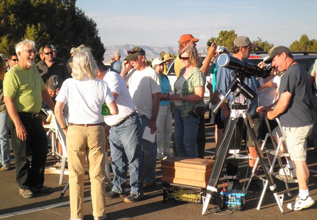 Visitors Viewing the 2012 Annular Eclipse 2012