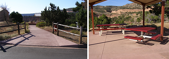 ramp into accessible picnic area