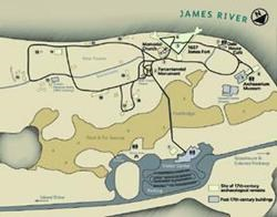 Site map of Historic Jamestowne