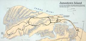Map of Historic Jamestowne's Scenic Loop Drive