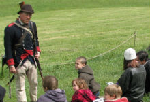 Students learn about life as a Continental Soldier during a field trip to Valley Forge