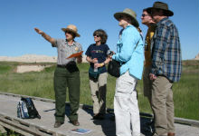 Park Ranger speaks with teachers.
