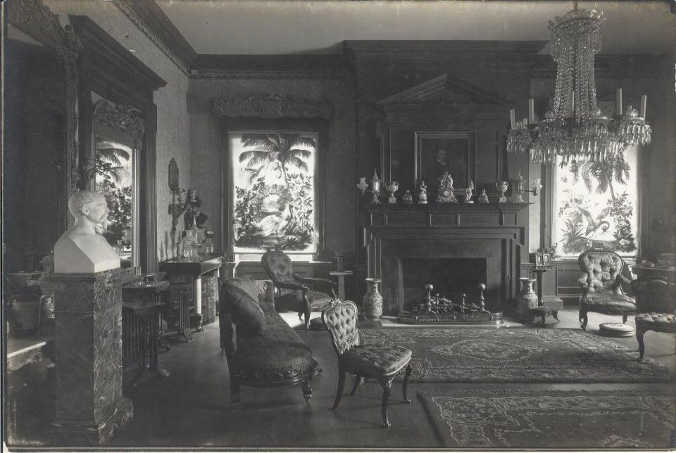 Historic image of the drawing room taken in 1908.