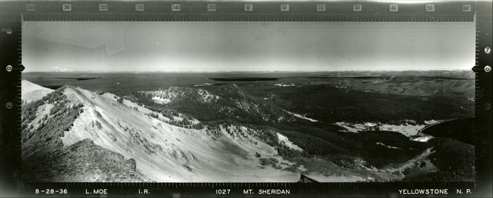 Mount Sheridan, Yellowstone National Park from 1936