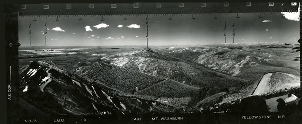 Mount Washburn, Yellowstone National Park from 1935