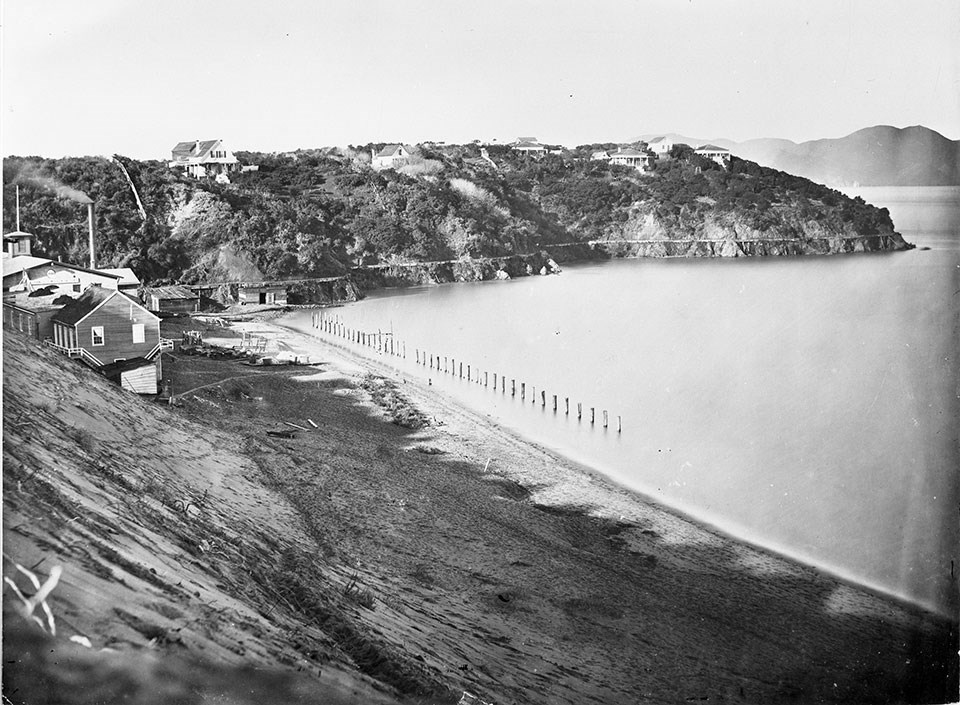 Photo of Black Point and its anchorage c. 1860s