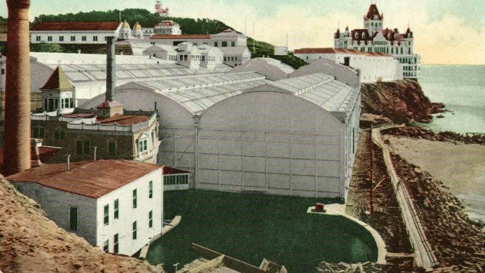 sutro baths postcard