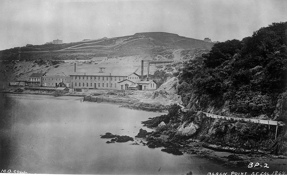 Photo of Black Point with the Pioneer Woolen Factory 1864