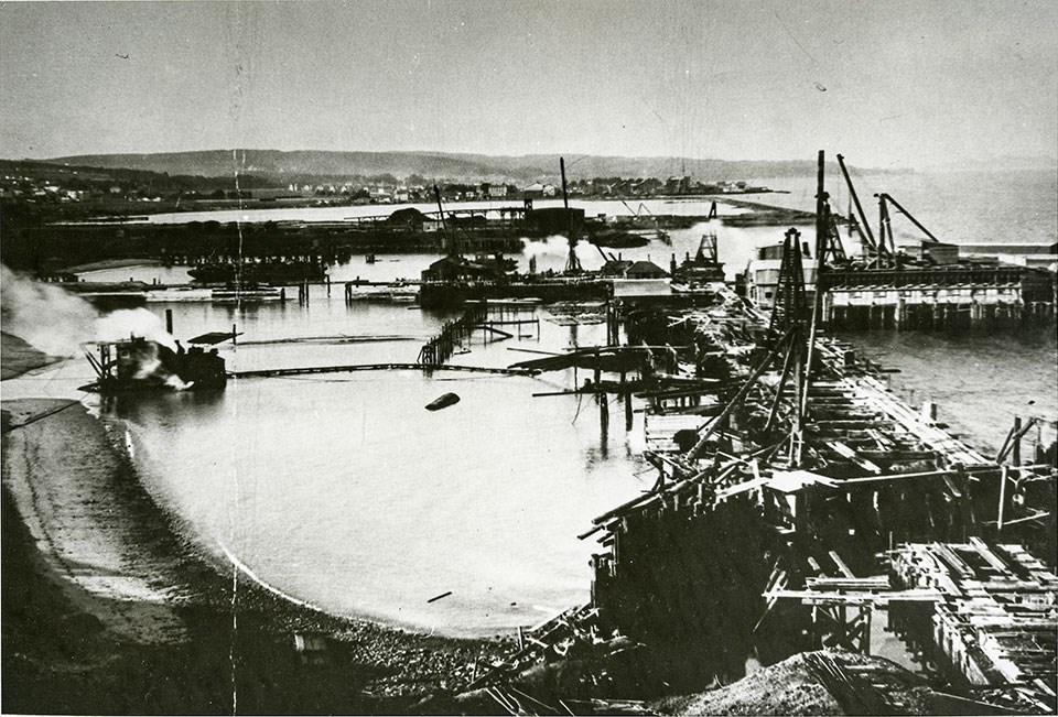 Photo of Fort Mason Pier Construction 1910