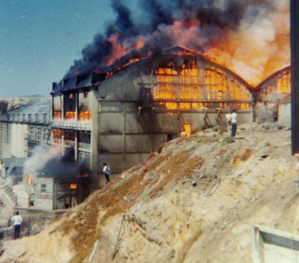 sutro baths on fire
