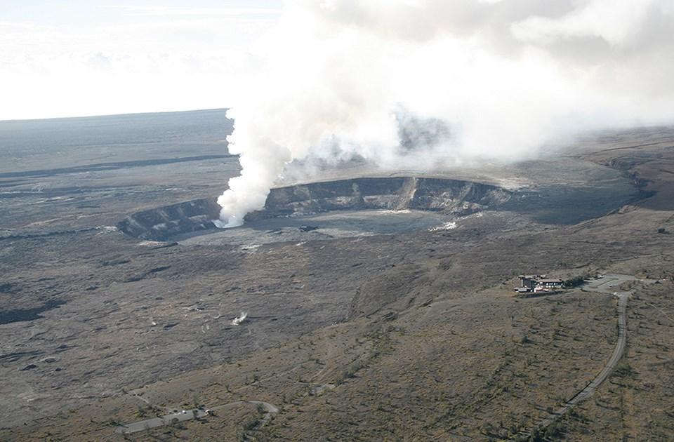 Kīlauea summit on November 28, 2008