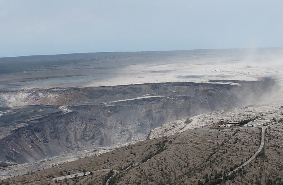 Kīlauea summit on August 1, 2018