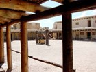Inner courtyard of the reconstructed fort at Bent's Old Fort NHS