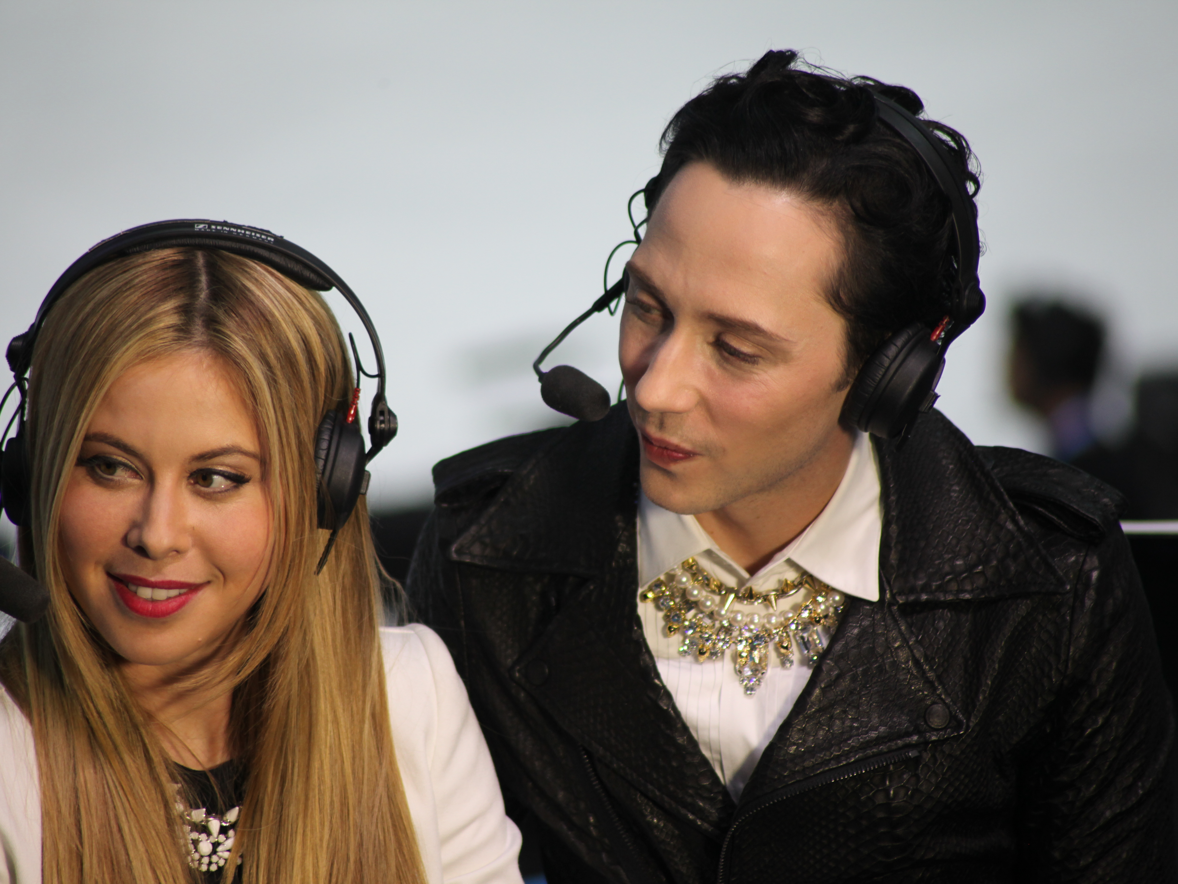 Figure skater Johnny Weir reporting at the Sochi 2014 Olympic Winter Games.