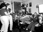 A birthday party for Mabel Hampton at the Lesbian Herstory Archives