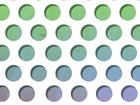Green and blue dots