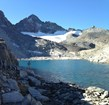 Maclure Glacier in Yosemite National Park (California) is a small but iconic alpine glacier
