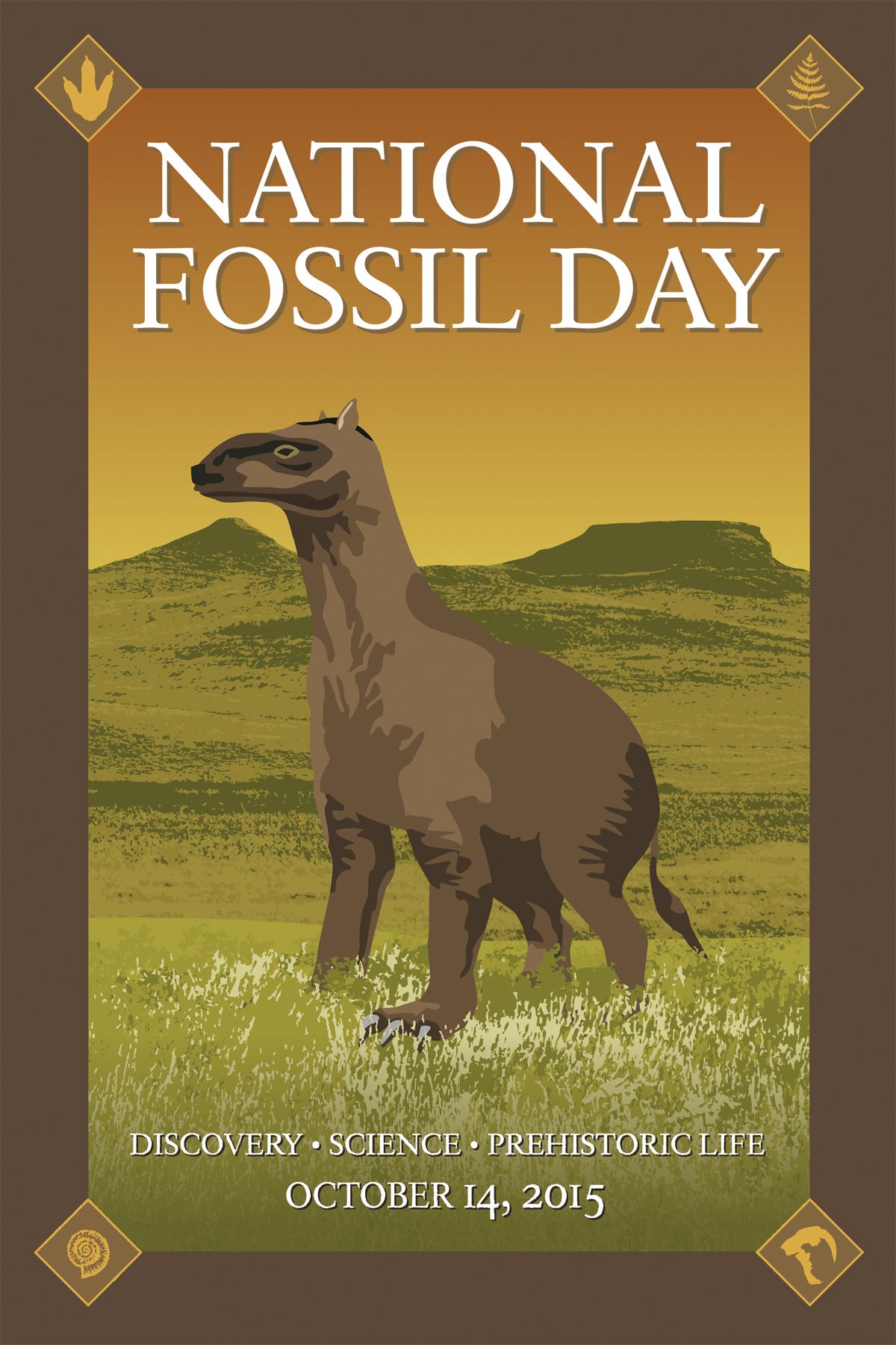 National Fossil Day 2015 Artwork chalicothere