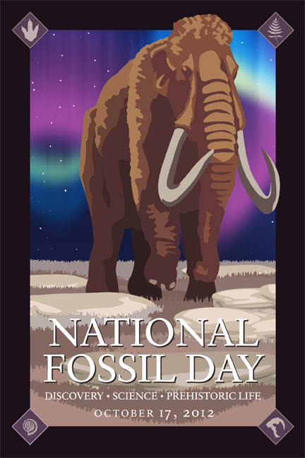 National Fossil Day mammoth artwork