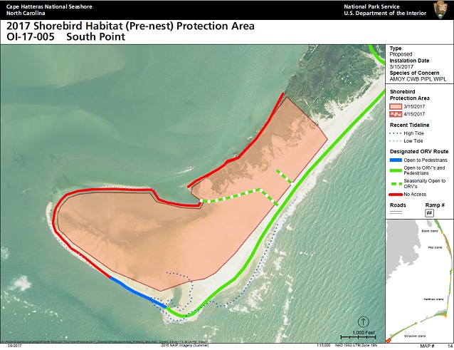2017 Ocrae Island Prenesting Areas For Cape Hatteras