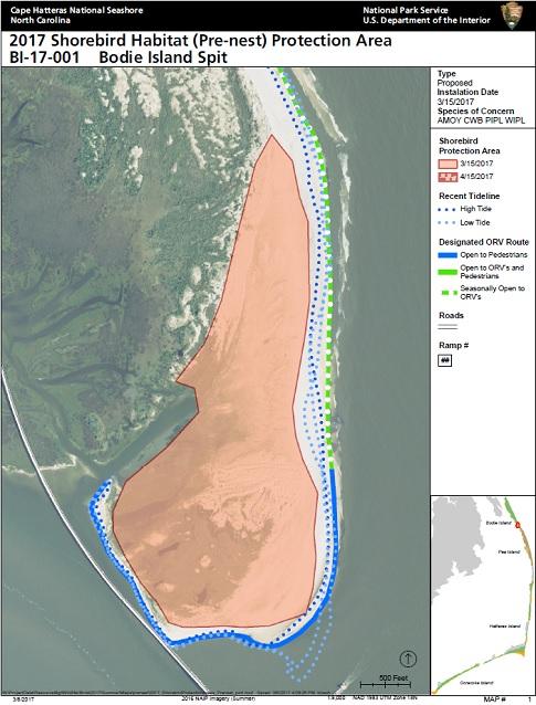 2017 Bodie Island Prenesting Area For Cape Hatteras