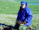 NPS archaeologist works at Amakomanak site in Noatak National Preserve.