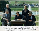 President Bush signing the 1990 Americans with Disabilities Act.