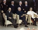 Seated leaders at the Potsdam conference, 1945