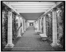 The pergola at Yaddo. Photo by Detroit Publishing, collections of Library of Congress