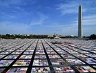 AIDS Quilt fills the National Mall. Photo by National Institutes of Health.