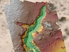 color model of arroyo showing depth