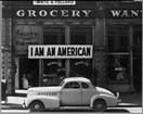 I am an American. Photo by Dorothea Lange, collections of Library of Congress