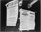 Exclusion order. Photo by Dorothea Lange, in the Library of Congress