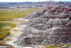 Scenery at Norbeck Pass, Badlands National Park