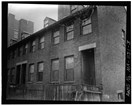 Brick boardinghouses in Lowell. HABS, Library of Congress, Public domain