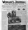 Front page of the Woman's Journal and Suffrage News, courtesy of the Library of Congress.