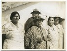 Native American women standing together looking at the camera. Courtesy Library of Congress. CC0