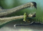 Late Triassic frog clings to the snout of a phytosaur
