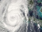 aerial image of storm system