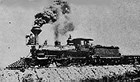 steam locomotive with smoke coming out