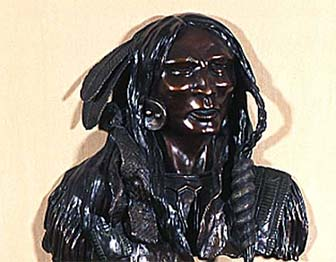 sculpture of native american man