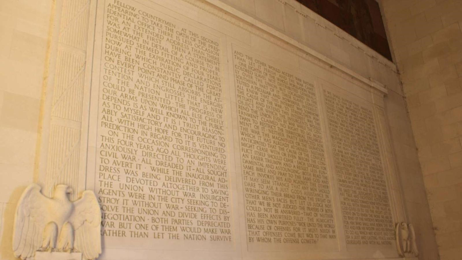 Lincoln Memorial Unity 2nd Inaugural Address U S National Park Service